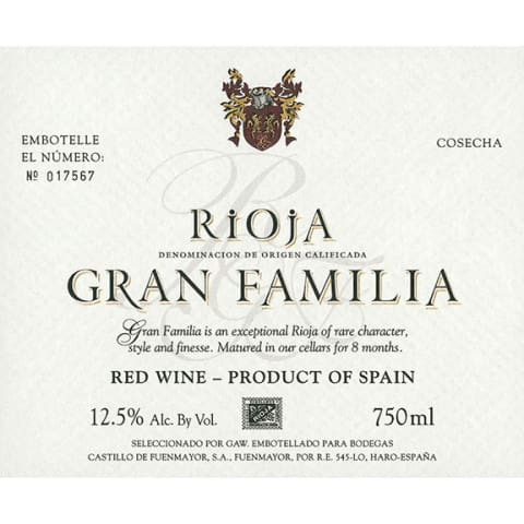 Product Image for Gran Familia Rioja